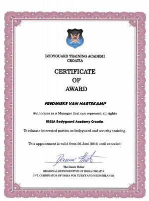 certificaat IBSSA The Netherlands